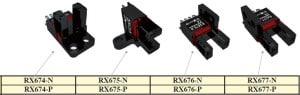 Czujnik optyczny widełkowy RX67 firmy RIKO 2