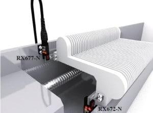 Czujnik optyczny widełkowy RX67 firmy RIKO aplikacja