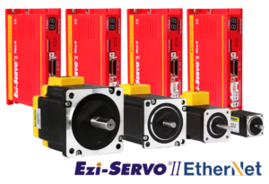 Naped serwokrokowy EtherNET z pozycjonerem Ezi-SERVO-II-Plus-E.