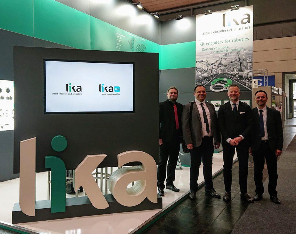 Eldar na stoisku firmy Lika podczas targów Hannover Messe 2019