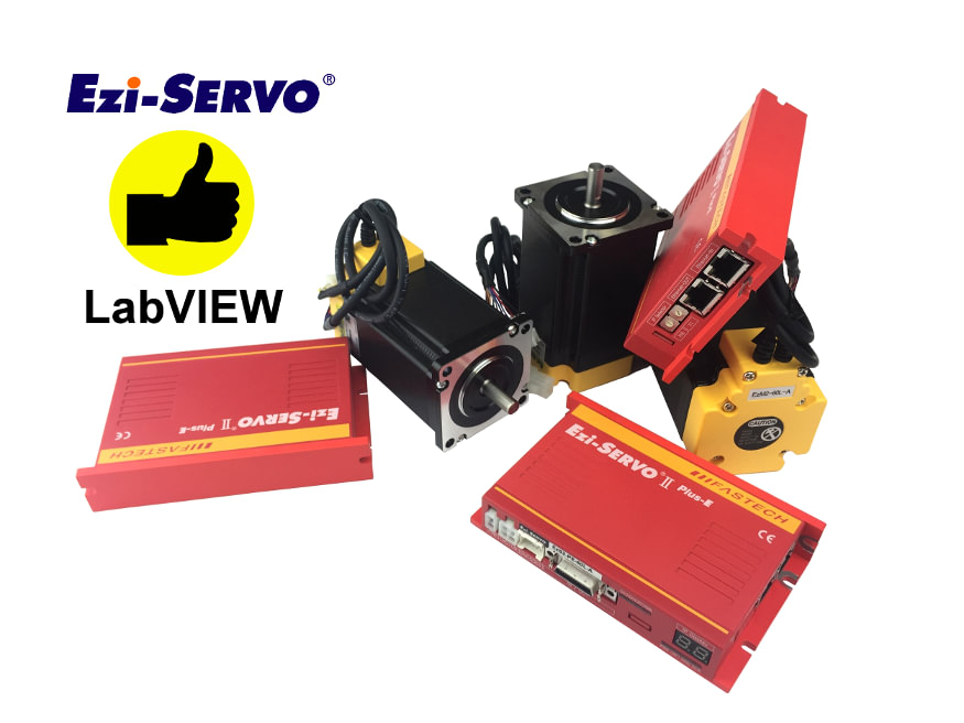 Naped serwokrokowy Fastech Ezi-SERVO-II-PlusE EtherNET LabVIEW
